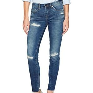 BLANKNYC High Dive Ripped Skinny Mid Rise Jeans